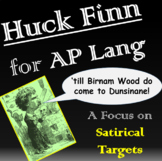 The Adventures Of Huckleberry Finn (Huck Finn) for AP Lang