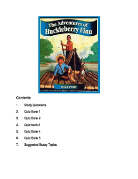 Huckleberry Fin Unit Packet
