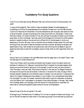 Huckleberry Finn Unit Packet