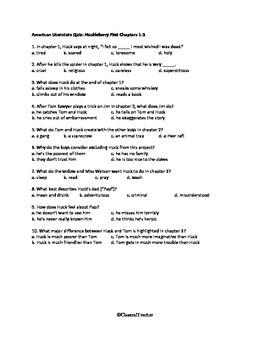 Huckleberry Finn Chapters 1-3 Quiz
