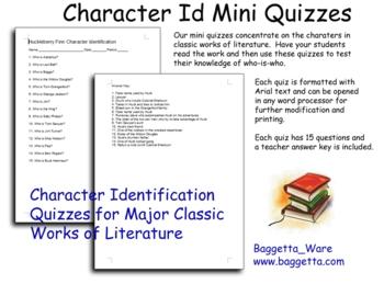 Huckleberry Finn Mini Character ID Quiz