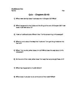 Huckleberry Finn Quizzes