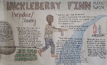 Huckleberry Finn Satire Mural