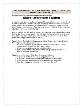 Huckleberry Finn Slavery and Racism Multimedia Response Stations