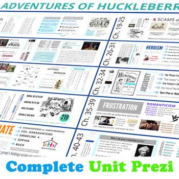 Huckleberry Finn Unit & Twitter Homework Annotation BUNDLE