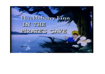 Huckleberry Finn in the pirates cave