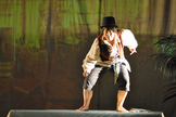 Huckleberry Finn, played by Anja Pirling