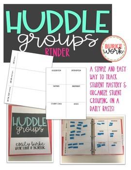 Huddle Groups Binder: Tracking & Organizing Student Mastery & Grouping
