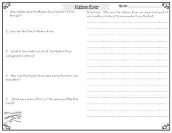 Hudson River Differentiated Nonfiction Reading Passages