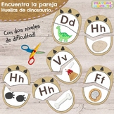 Huellas de Dinosaurio - Encuentra la Pareja // Letter Matc