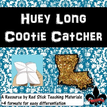 Huey Long Cootie Catcher