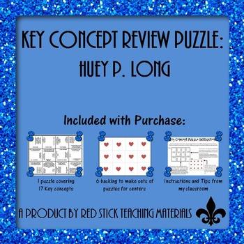 Huey Long Key Concept Puzzle