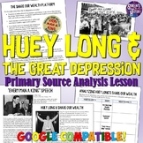 Huey Long and the Great Depression Lesson Plan