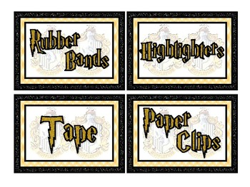 Huff Wizard Themed Labels