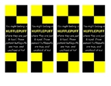 Hufflepuff Harry Potter House - Sorting Hat Song Quote Bookmark