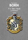 Hufflepuff House Crest Poster