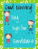 Hug, High-five, Handshake Poster