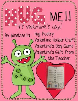 Hug ME! It's Valentine's Day {Hug Poetry, Craft, Game, Valentine}