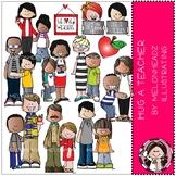 Hug a Teacher clip art - COMBO PACK - by Melonheadz