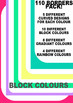 Border clip art set: 110 borders ~ block colours, gradients and rainbow