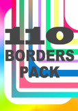 Border clip art set: 110 borders ~ block colours, gradient