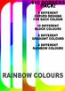 Border clip art set: 110 borders ~ block colours, gradient