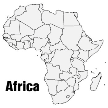 Huge African Continent Wall Map (3x3ft)