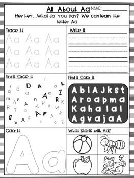 Huge Alphabet No Prep Printables