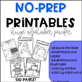 Huge Alphabet No Prep Printables