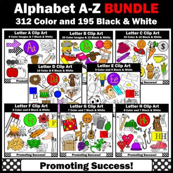 Huge BUNDLE of Alphabet Clip Art, Alphabet Letter Sounds A-Z, SPS
