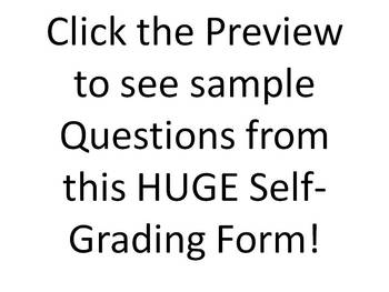 Huge Biology Self-grading Test: 126 Questions in All Biology Topics
