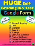 Biology Self-grading Test: 126 Questions in All Biology To