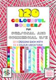 Huge Border Bundle: 120 Colorful transparent borders for commercial use!