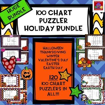 Huge Bundle!!  100 Chart Puzzler Holiday Bundle!! Save Big!