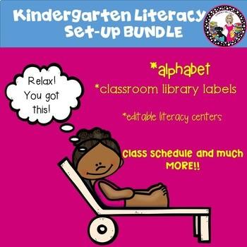 Huge Bundle! Kindergarten Literacy Set-Up! 7 Products in 1!