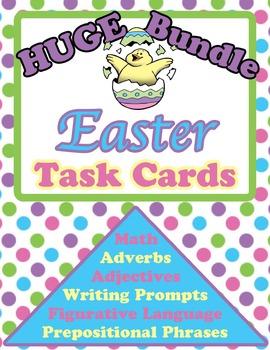 Easter Task Cards Bundle(Adjectives, Adverbs, Figurative L