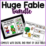 Huge Bundle of Fables- Adapted Books- Boom Cards and Print