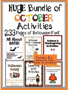Huge Bundle of October Activities - Halloween, Autumn and Thanksgiving!