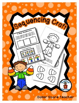 Huge Candy Corn - Halloween - Autumn - Sequencing Reader Mat & Craft Page
