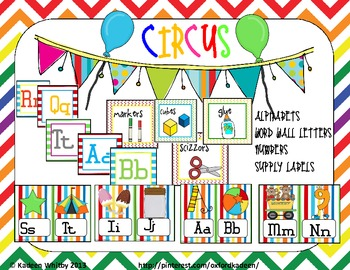 Huge Circus themed ClassDecor Set  !