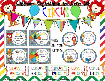 Huge Circus themed ClassDecor Set  !