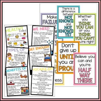 Huge Classroom Poster Bundle/Pack - Bright and Colorful Displays