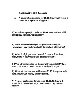 Huge Fall-Themed Math Differentiated Practice Packet