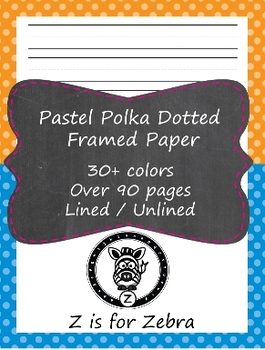 Huge Framed / Handwriting Paper Pack - 90 pages