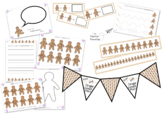 Huge Gingerbread Man Activities Bundle