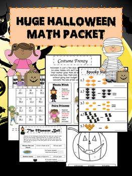 Huge Halloween Math Packet