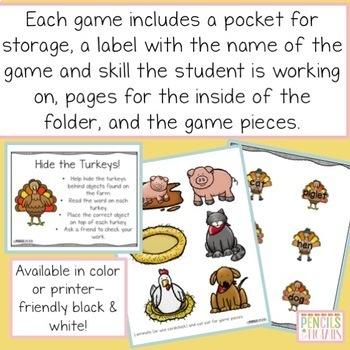 Huge Holiday Bundle of File Folder Games-Morning Work, Center Activities, & More