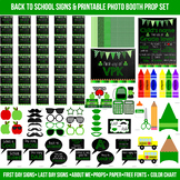 Huge Green First and Last Day of School Signs & Printable Photo