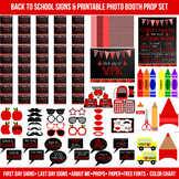 Huge Red First and Last Day of School Signs & Printable Photo