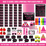 Huge Pink First and Last Day of School Signs & Printable Photo